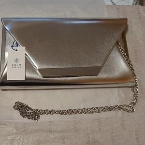 New sliver Call It Spring crossbody clutch
